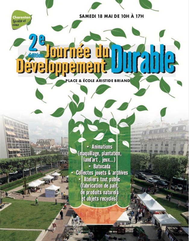 les semeurs du pont participent à la 2ème journée du développement durable à Charenton le pont